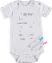 Baby YAY! Unisex Body - white - Maat 50/56