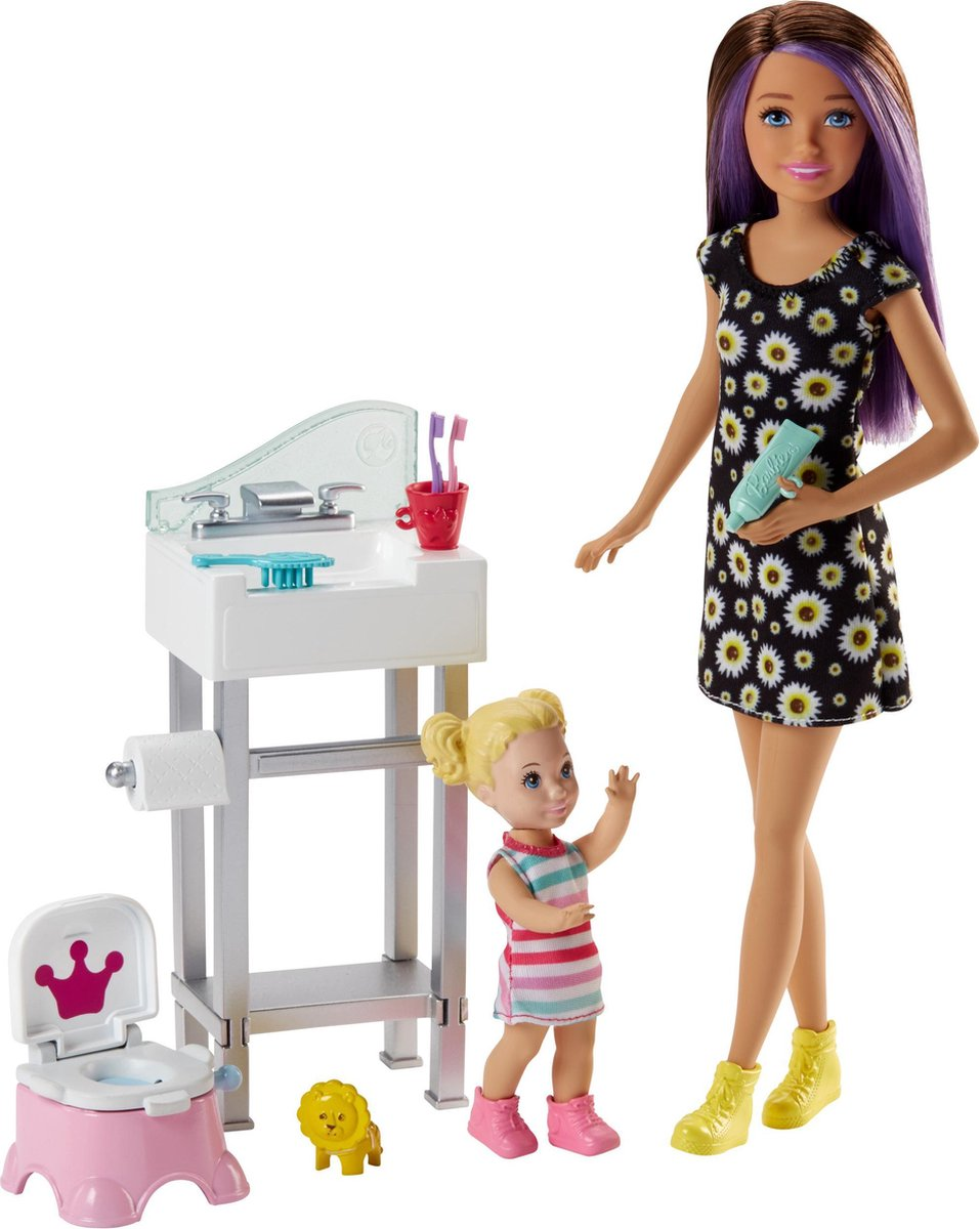 Barbie Babysitter Potjes Training - Barbiepop