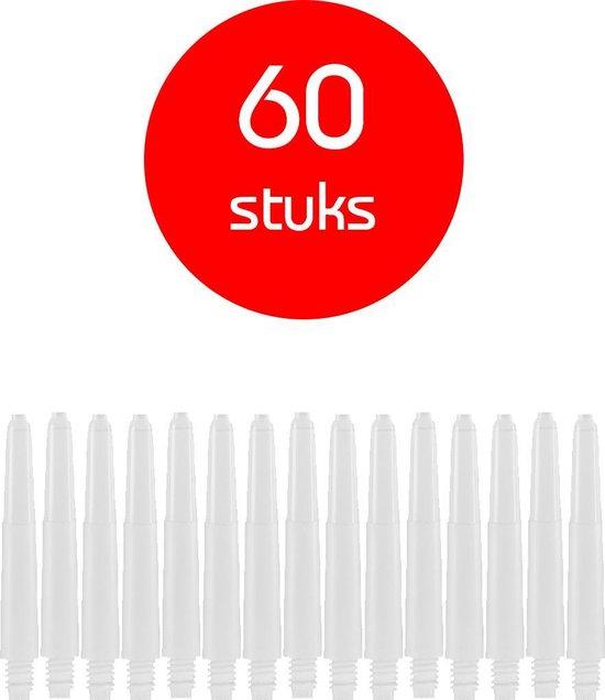 Dragon Darts - darts shafts - 20 sets (60 stuks) - short - wit - dart shafts - shafts
