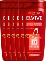 L'Oréal Paris Elvive Color Vive Shampoo - 6 x 250 ml - Voordeelverpakking