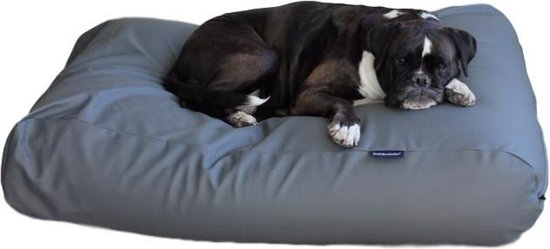 Dog's Companion® Hondenbed -  L - 115 x 85 cm - Muisgrijs Leather Look