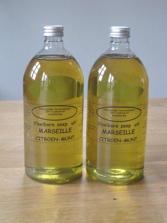 Vloeibare Marseille zeep 2 x 1 L Citroen-Munt