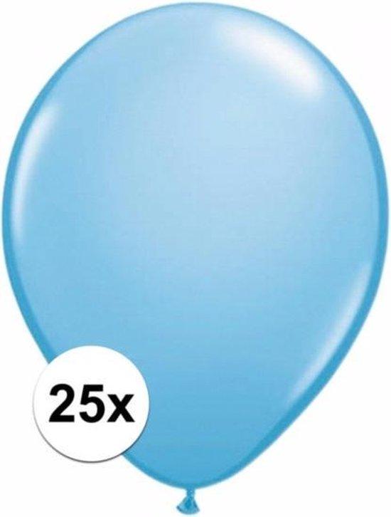 Lichtblauwe ballonnen 25 stuks
