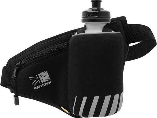 Karrimor Hardloopriem - Runningbelt met 1 drinkfles - Zwart