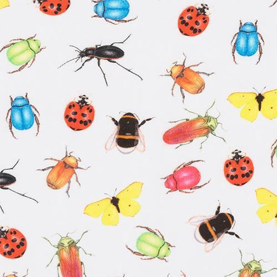 by Sorcia - theemuts Colourfull Insects - 30x25cm - katoen - designed in Holland - by Sorcia