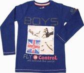 Boys In Control Jongensshirt - Denim Blauw - Maat 116