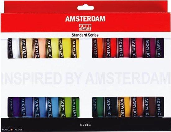 Afbeelding van Amsterdam Standard acrylverf 24 tubes 20ml speelgoed