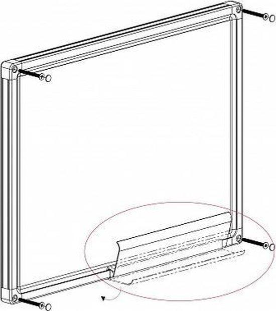 Franken Whiteboard 90 x 120cm - Gelakt staal Magnetisch - Afleggoot - Franken