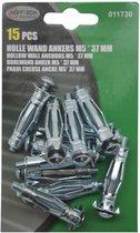Holle wand Ankers m5 37 MM 15 Stuks | Voor het Bevestigen aan Holle Wanden | Muurplug geschikt voor Wanddiktes van 10mm tot 17mm | Hollewandplug