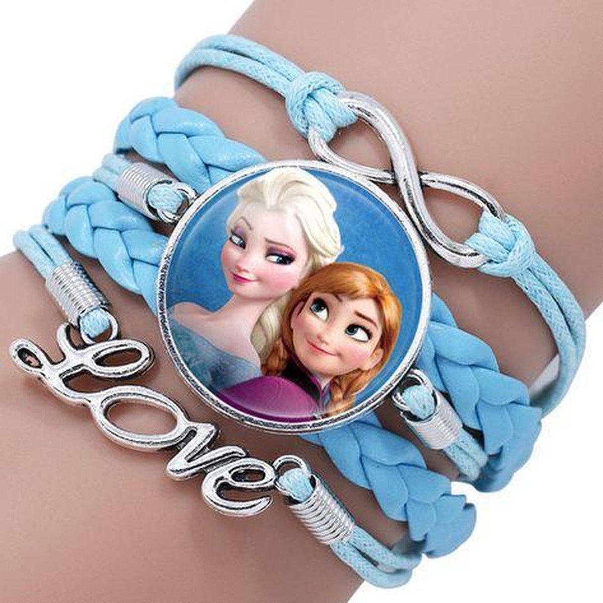 Armband blauw Frozen Elsa en Anna