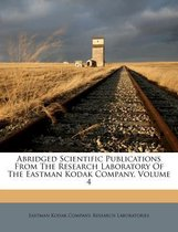 Abridged Scientific Publications from the Research Laboratory of the Eastman Kodak Company, Volume 4