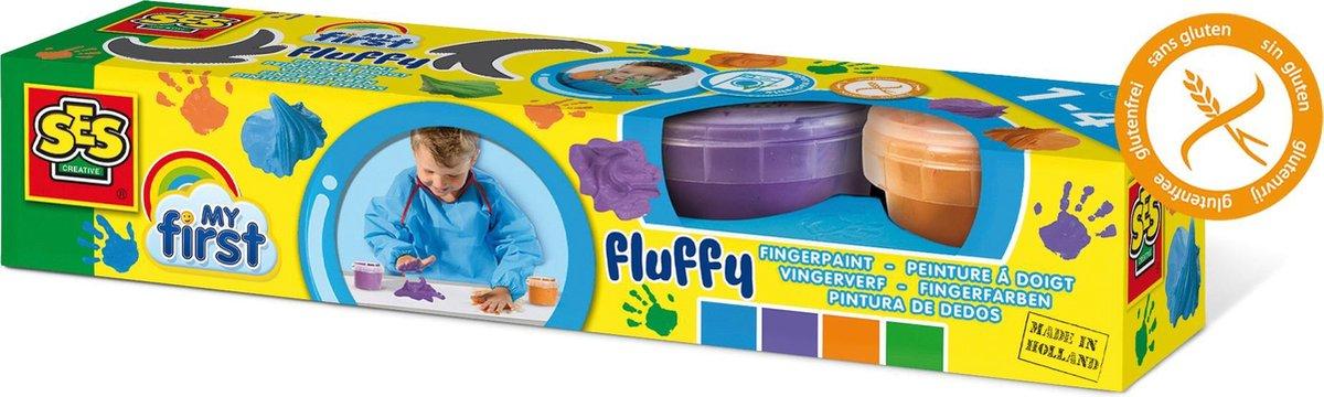 SES My First Fluffy vingerverf - Hobbyverf - Pastelkleuren