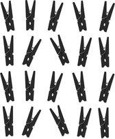 20x Zwarte mini knijpertjes