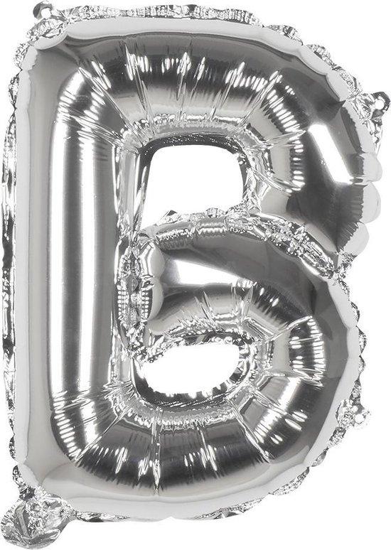 Boland Ballon Letter B Zilver 36 Cm
