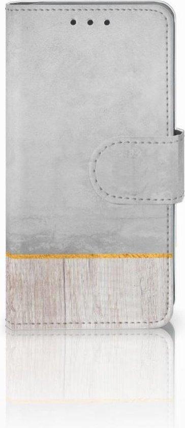 Samsung Galaxy A3 2015 Bookcase Hoesje Wood Concrete