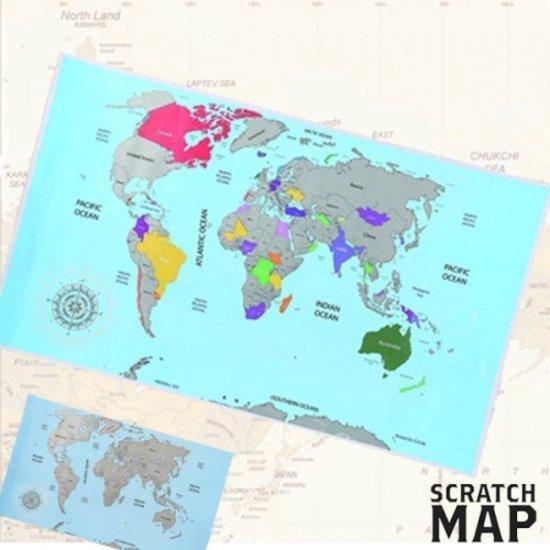 Kras Wereldkaart - Scratch Map Pride Kings®