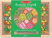 Houten kralenset Flower Power