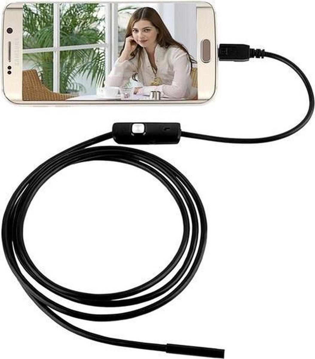 RRJ Endoscoop 2 meter - LED -  5mm / 7mm kop - Niet geschikt voor Iphone en IOS - RRJ