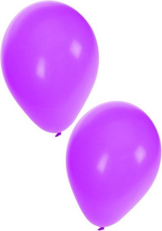 Ballon 50 x paars nr 10