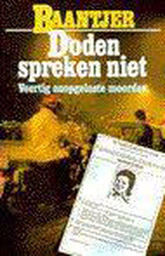 Fontein paperback Doden spreken niet - none |