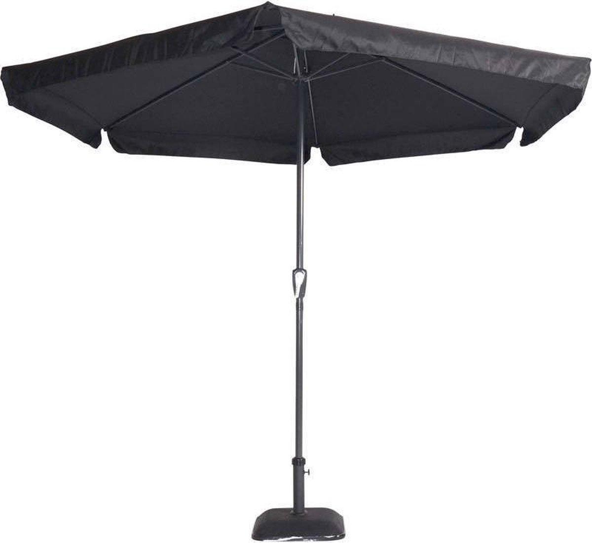 Gemini Parasol Zwart Ø300 cm - Outdoor Living