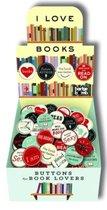 I Love Books Button Box 120 asstd FIRM SALE