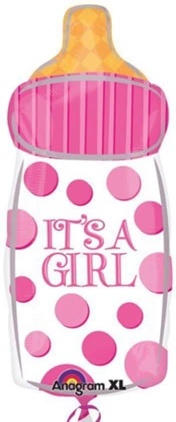Anagram - Folieballon - Shape - It's a girl - Zonder vulling - 58x25cm