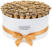Large Witte Ronde FlowerBox Gold