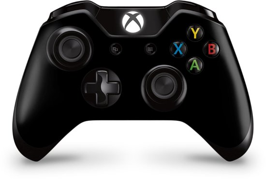 Xbox One Controller Skin Zwart Sticker