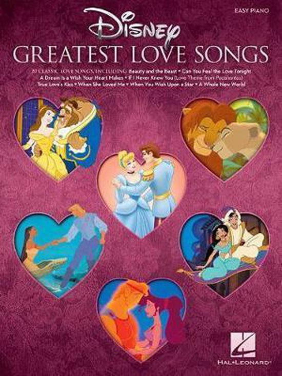 Disney's Greatest Love Songs (Easy Piano Book)