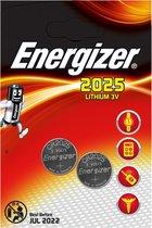 Energizer CR2025 Lithium Button Cell Battery 3 V - 2 stuks