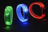 Gekleurde armband met LED licht  rood