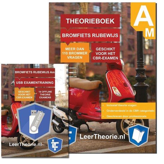 Boek cover Scootertheorieboek 2021 - Bromfiets Theorieboek - Rijbewijs AM + USB 20 scooter theorie-examens van LeerTheorie BV (Voordeeleditie)