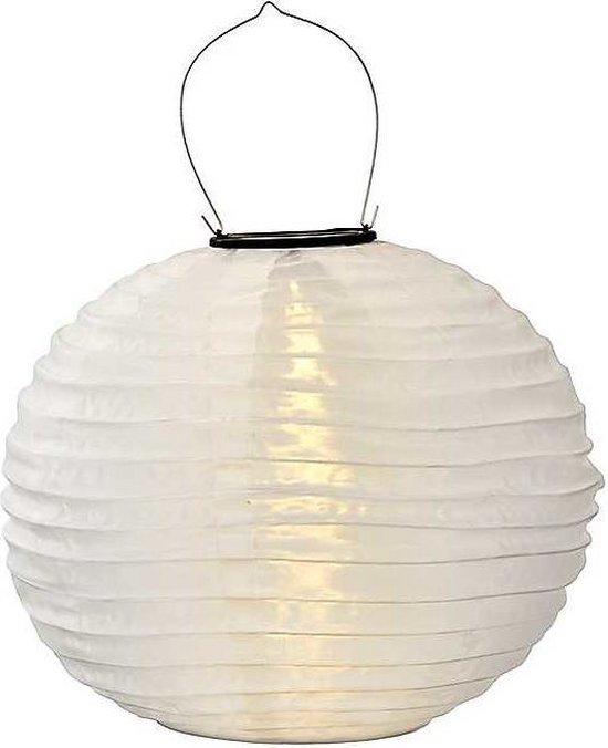 Lampion-Lampionnen Solar lampionnen wit 35 cm - rond