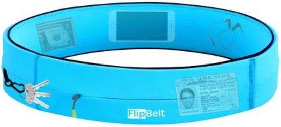 Flipbelt Rits Lichtblauw - Running belt - Hardloopriem - M