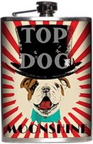 Top Dog Heupfles - RVS - 230 ml