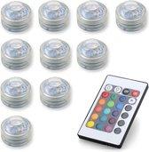 Set LED RGB op batterij met afstandbediening