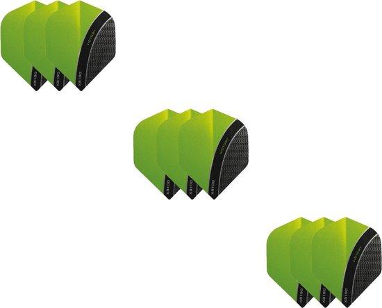 3 Sets (9 stuks) XS100 Curve flights Multipack - Groen