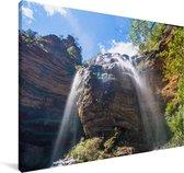 Wentworth Falls in Nationaal park Blue Mountains in Oceanië Canvas 180x120 cm - Foto print op Canvas schilderij (Wanddecoratie woonkamer / slaapkamer) XXL / Groot formaat!