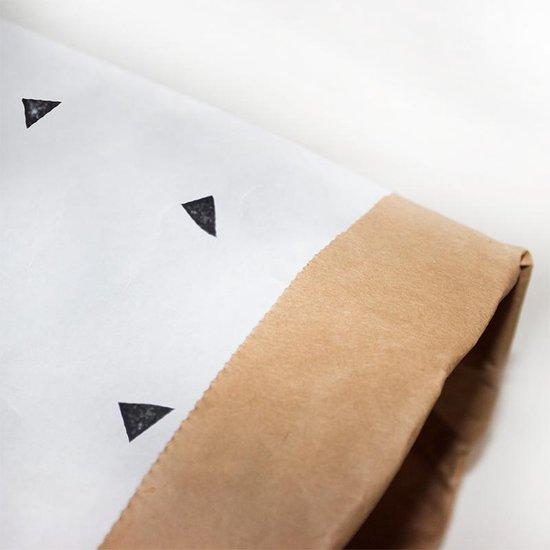 Paperbag XS Wit (driehoekjes)