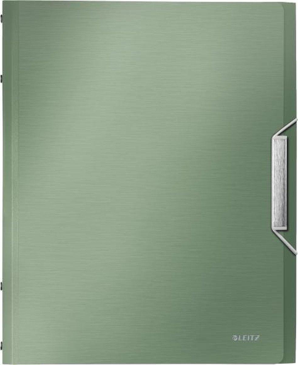 Leitz Style sorteermap PP 12tabs groen