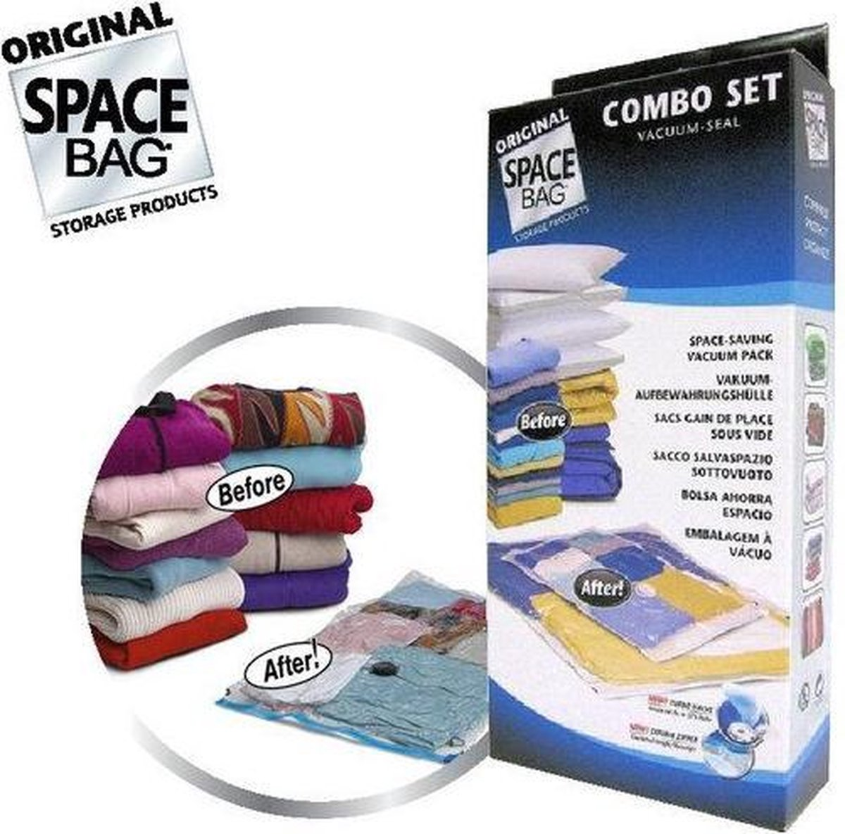 Space Bag Vacuüm opbergzakken 2-delige Combo Set - Space Bag