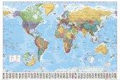 Wereldkaarten-posters -Aanbieding-posterset van 2 posters wereldkaarten-61x91.5cm