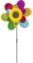 Windmolen Bloem 38 cm - Gekleurd