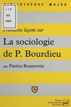 Premières leçons sur la sociologie de Bourdieu