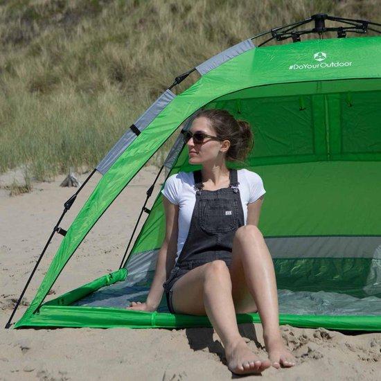 #DoYourOutdoor - Strandtent - »Moewe« - Zonnescherm incl. draagtas en 4 haringen - 230x150x110cm - groen