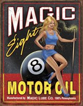 Signs-USA Magic Eight Motor Oil - Retro Wandbord - Metaal - 40x30 cm