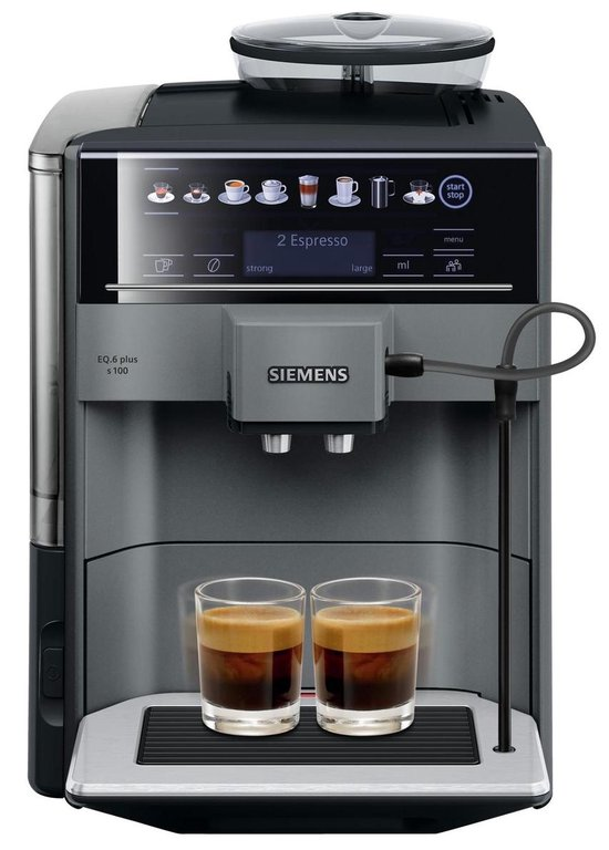 Siemens EQ6 Plus s100 TE651209RW - Espressomachine - Grijs