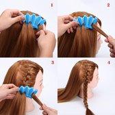 Vlecht hulpstuk - vlechten tool haarclip simpel Frans vlechten - Blauwe Braid hulp - Heble