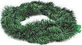2x Groene kerstslingers kerstversiering van 270 cm